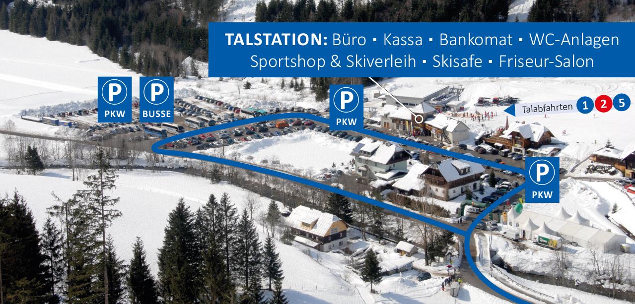 © Ski Riesneralm - Busparkplatz