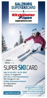 Salzburg Super Ski Card Folder 2017-18-1