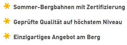 © Besten Österreichischen Sommer-Bergbahnen