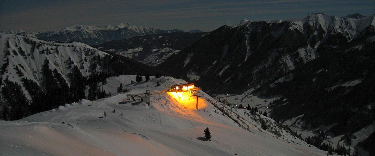 Skigebiet Riesneralm - Donnersbachwald - Nacht-Tourenskilauf
